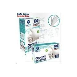 Guanti  Bluline in lattice senza polvere - 100pz Tagl. S